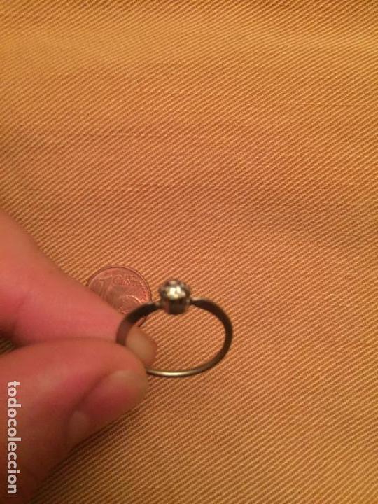 Joyeria: Antiguo anillo de bisuteria para señora de metal plateado de los años 60 - Foto 3 - 143062950