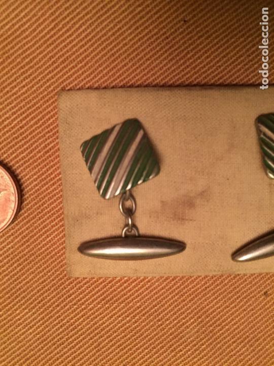 Joyeria: Antiguos botones de puño para camisa caballero de estilo Art Deco sin estrenar de los años 40 - Foto 3 - 143064378