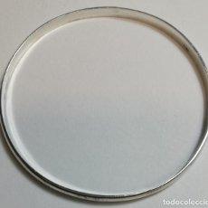 Joyeria: PULSERAR PLATA 7 GR. ESPESOR 1,3 MM. ANCHO 3,8 MM. DIAMETRO INTERIOR 58,5 MM.. Lote 143351262