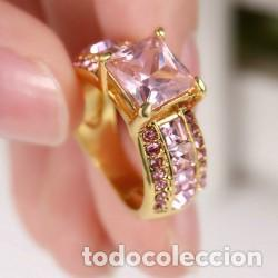 Joyeria: Anillo Chapado en Oro Cuarzo Rosa Modelo 107 Talla 6 America - Foto 3 - 194877157