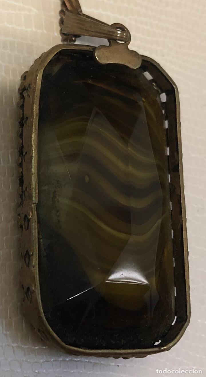 Joyeria: Precioso colgante con cadena a juego, con centro de piedra mineral - Foto 7 - 140605397