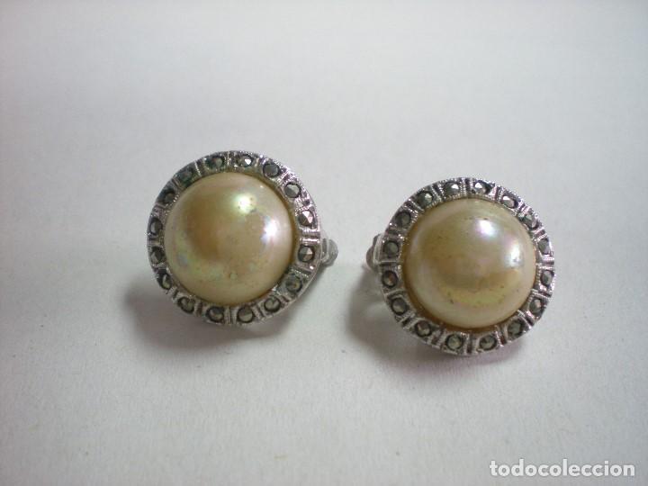 d8eb97d789d4 Pendientes con perla sobre acero d 1 cm