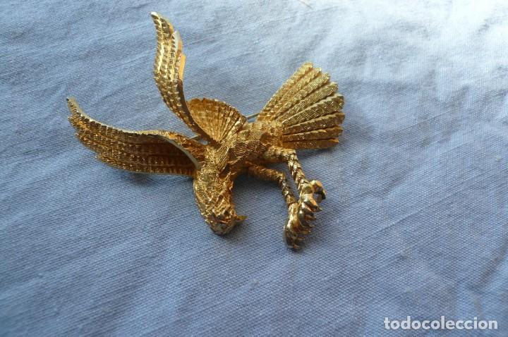Joyeria: Gran Broche Vintage dorado con forma de Águila. - Foto 2 - 150078214