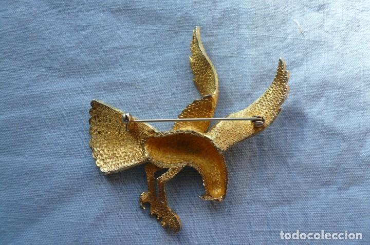 Joyeria: Gran Broche Vintage dorado con forma de Águila. - Foto 3 - 150078214