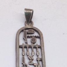 Joyeria: COLGANTE DE PLATA EGIPCIO. Lote 150126614