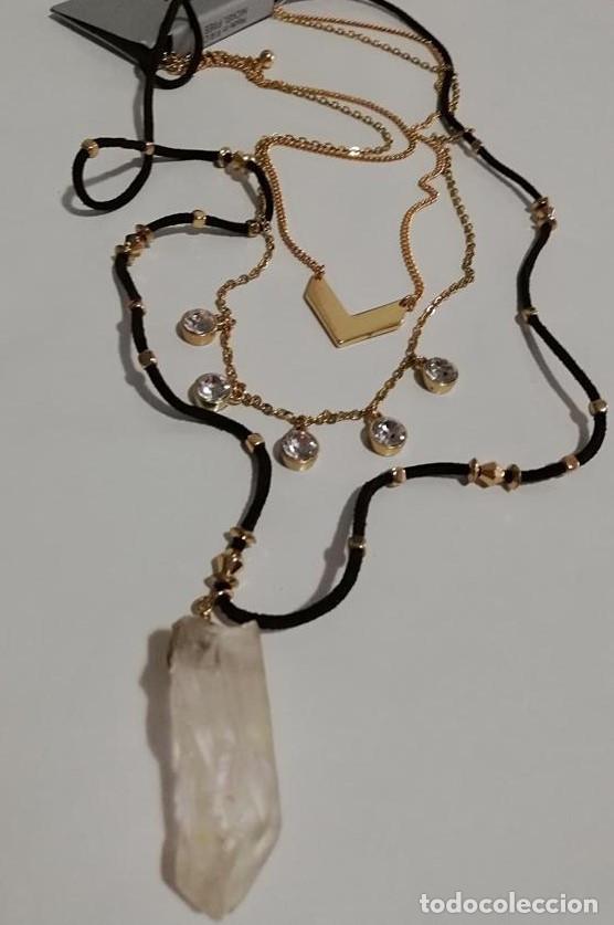 Joyeria: Collar Largo con Colgante de Piedra Natural - Foto 3 - 151715346