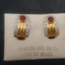 Joyeria: PENDIENTES CHAPADO ORO 18K. Lote 154546162