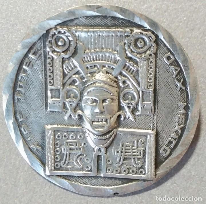 BROCHE DE PLATA MEJICANA. DIÁMETRO 31 MM. (Bisutería)