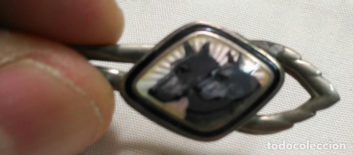 Joyeria: Antigua Pinza de Corbata Esmaltada - Perros Doberman - - Foto 6 - 155980662