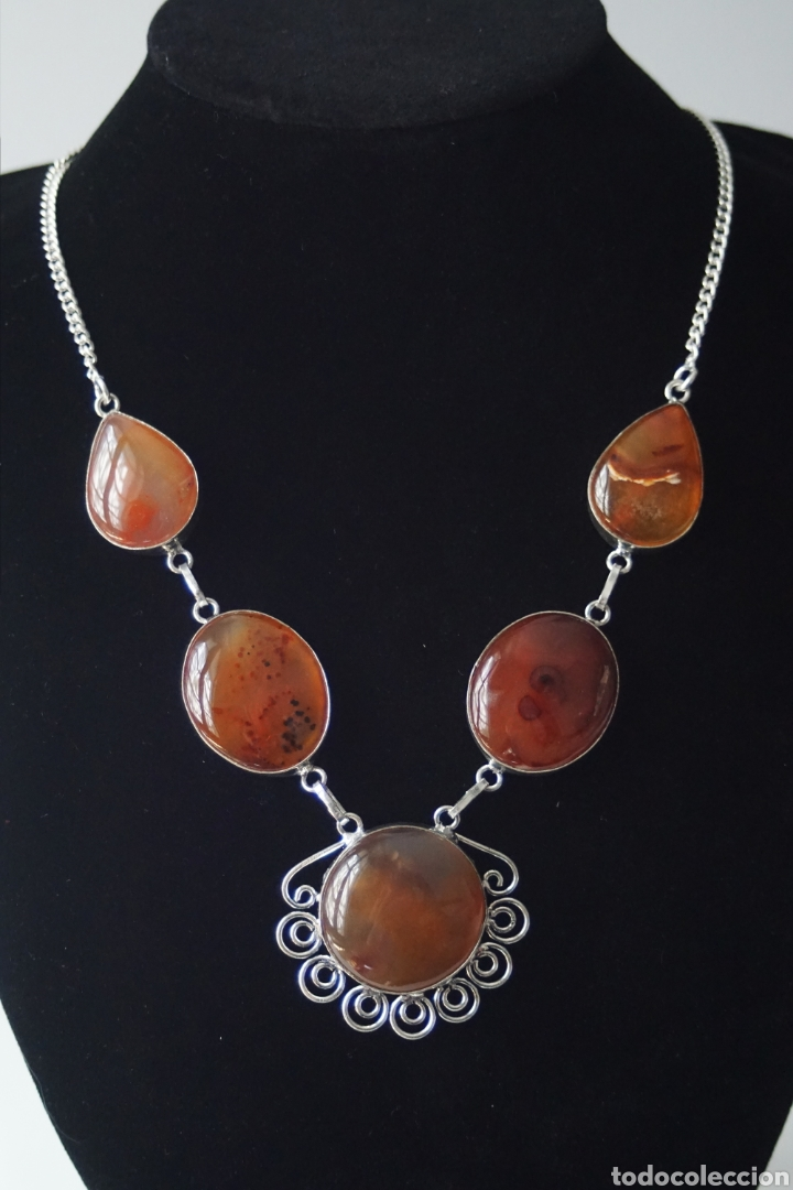 Joyeria: Collar gargantilla con Carneolas - 49gr. - Foto 3 - 157717730