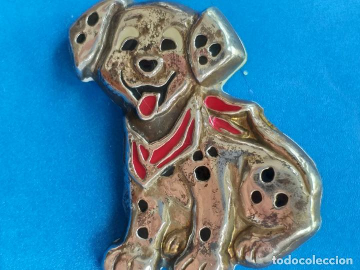 Joyeria: Bonito broche de estilo vintage con forma de perro. Dalmata. Plateado - Foto 2 - 159142782