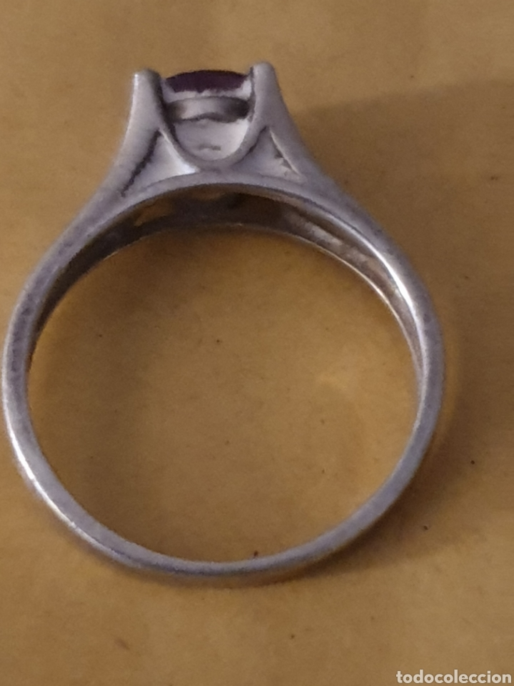 Joyeria: Anillo amatista plata de ley 925 medida 15 - Foto 3 - 160039732
