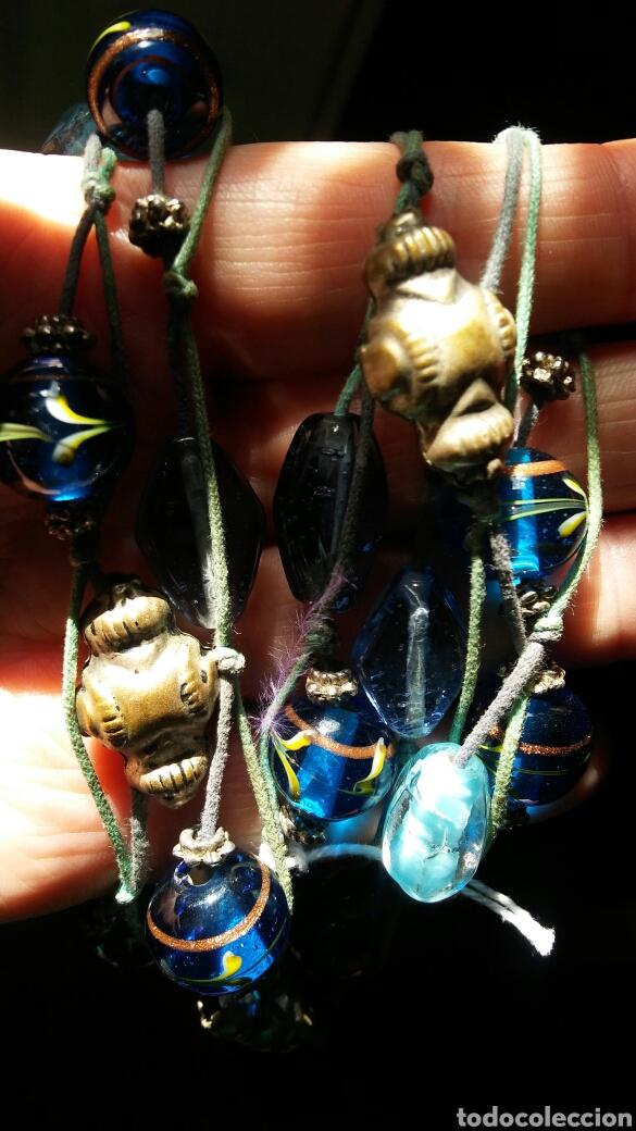 Joyeria: Collar cuentas cristal con oro - Foto 2 - 161230932
