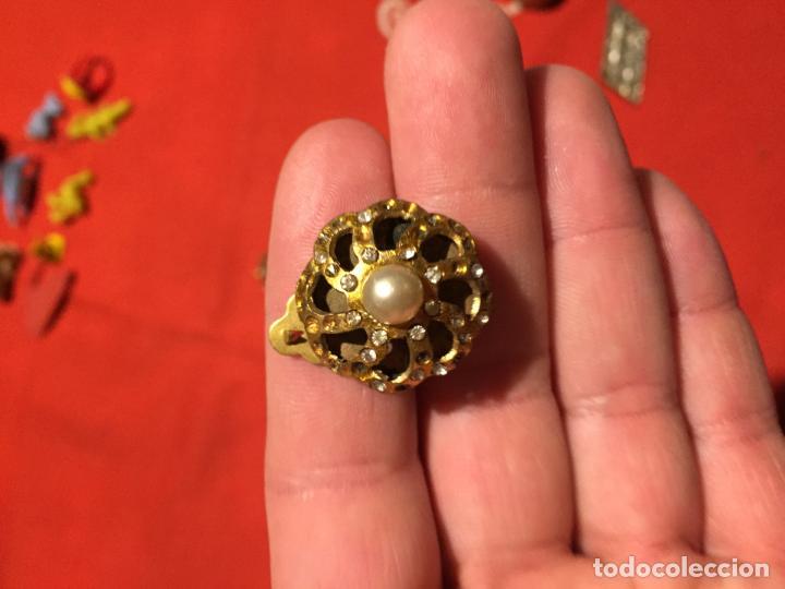 Joyeria: Antiguos pendientes de bisuteria con perlas con cierre de pinza años 50 - Foto 2 - 161502042