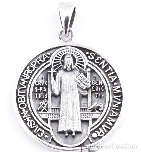 COLGANTE PLATA DE LEY 925 SAN BENITO (Bisutería)