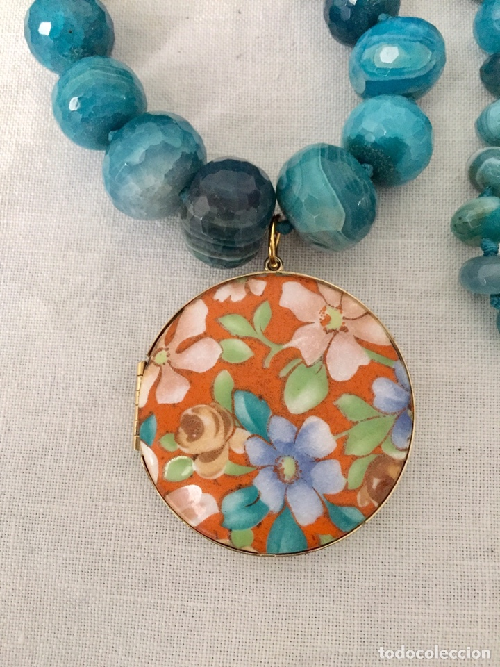 Joyeria: Collar agatas azules y colgante vintage - Foto 7 - 162484764