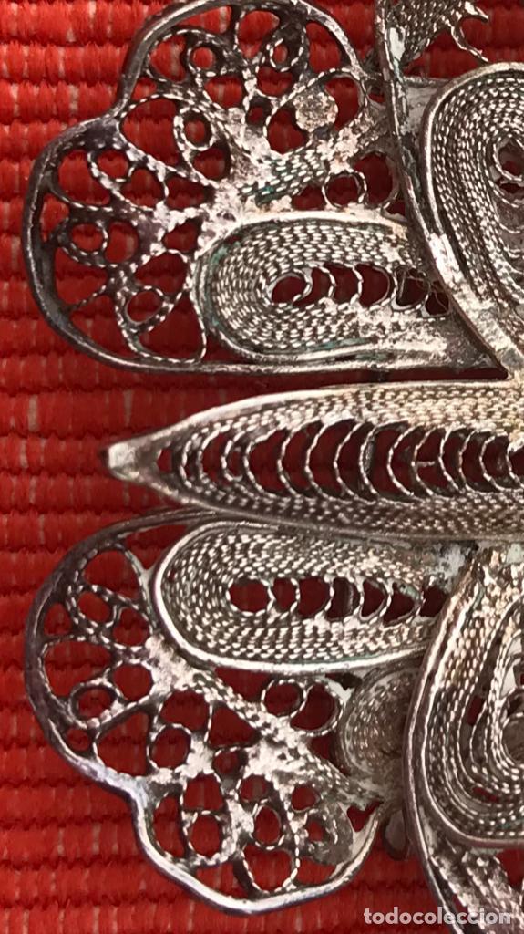 Joyeria: mariposa filigrana plata antiguo broche pasador fina filigrana bonita delicada 6 cm - Foto 5 - 165417306