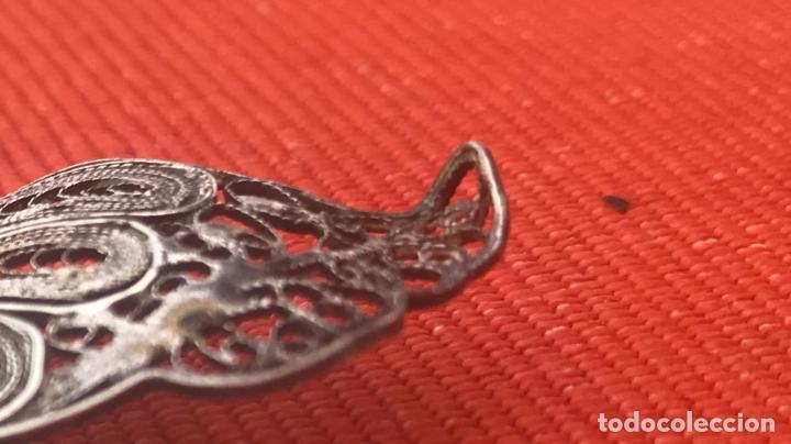 Joyeria: mariposa filigrana plata antiguo broche pasador fina filigrana bonita delicada 6 cm - Foto 8 - 165417306