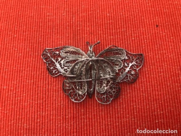 Joyeria: mariposa filigrana plata antiguo broche pasador fina filigrana bonita delicada 6 cm - Foto 9 - 165417306