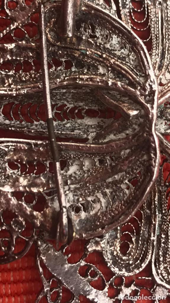 Joyeria: mariposa filigrana plata antiguo broche pasador fina filigrana bonita delicada 6 cm - Foto 10 - 165417306
