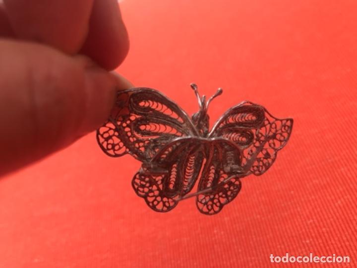 Joyeria: mariposa filigrana plata antiguo broche pasador fina filigrana bonita delicada 6 cm - Foto 11 - 165417306