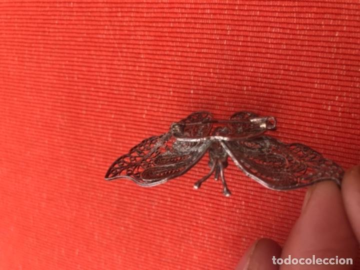 Joyeria: mariposa filigrana plata antiguo broche pasador fina filigrana bonita delicada 6 cm - Foto 12 - 165417306