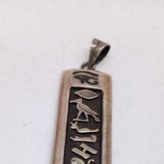 Joyeria: COLGANTE DE PLATA EGIPCIO. Lote 167090274