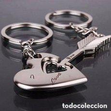 Joyeria: PAREJA DE LLAVEROS FLECHA Y CORAZON. Lote 167689190