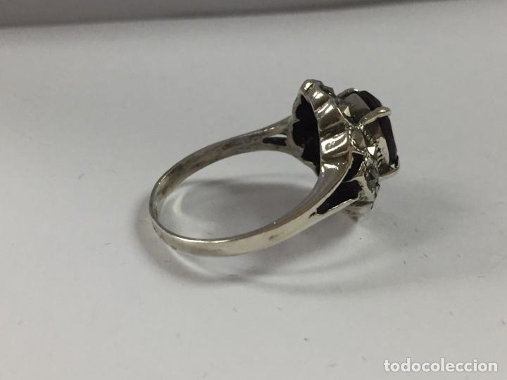 Joyeria: Sortija de plata con granate y marquesitas - Foto 4 - 168841121