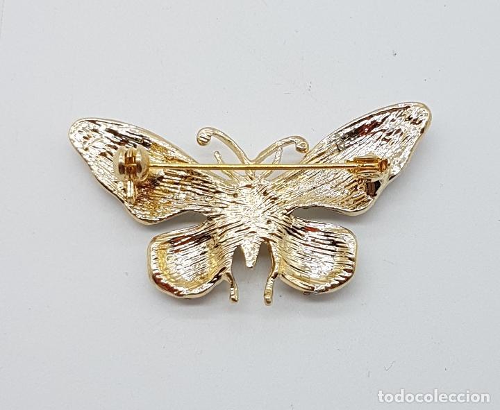 Joyeria: Magnífico broche de estilo art nouveau de mariposa con acabado en oro, esmaltes, y pedrería . - Foto 5 - 244470400