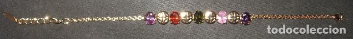 Joyeria: Pulsera dorada con circonios de colores, estilo oriental. - Foto 9 - 170553276