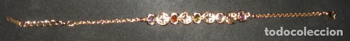 Joyeria: Pulsera dorada con circonios de colores, estilo oriental. - Foto 10 - 170553276
