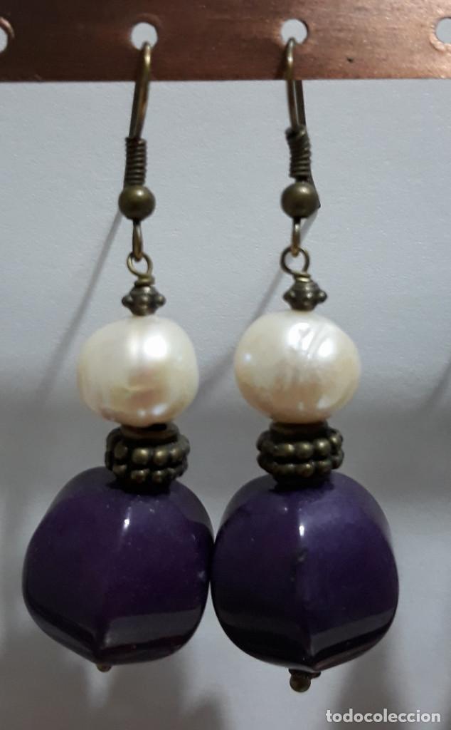 Joyeria: Pendientes de onix negro, perlas de río y polvo prensado de coral - Foto 3 - 171023035