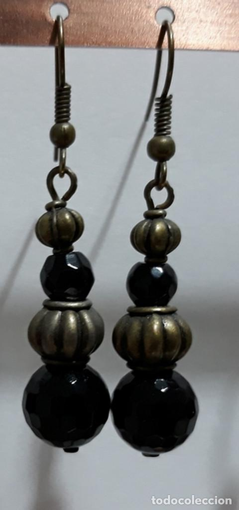 Joyeria: Pendientes de onix negro, perlas de río y polvo prensado de coral - Foto 4 - 171023035