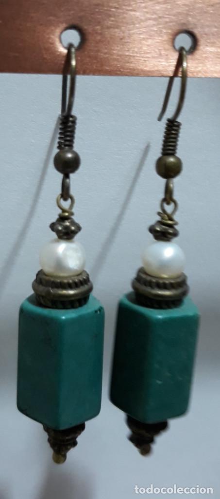 Joyeria: Pendientes de ónix, perlas de río y polvo de turquesa - Foto 3 - 171023443
