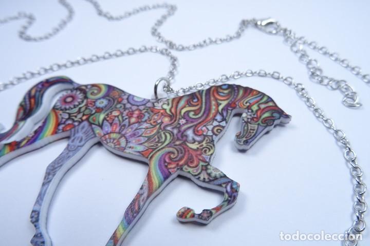 Joyeria: Colgante en forma de caballo de mil colores y cadena de plata - Foto 5 - 171173504