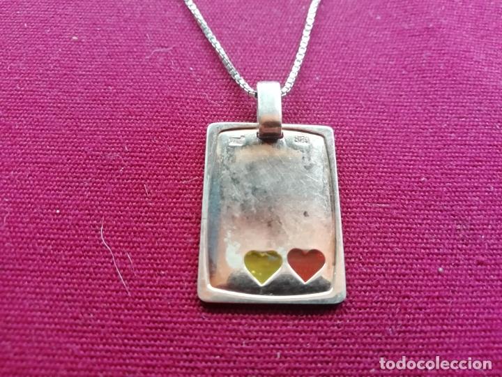 Joyeria: Cadena de plata contrastada de 925. Colgante corazones - Foto 2 - 171800674