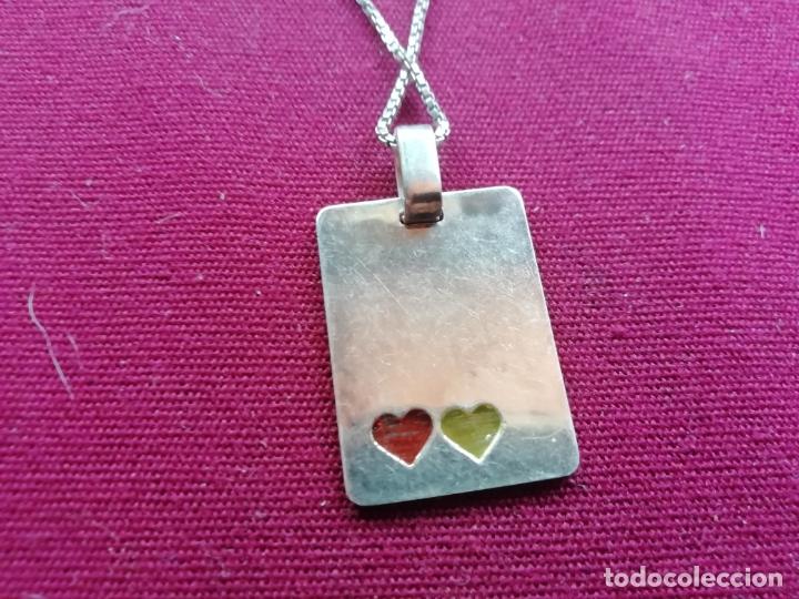 Joyeria: Cadena de plata contrastada de 925. Colgante corazones - Foto 3 - 171800674