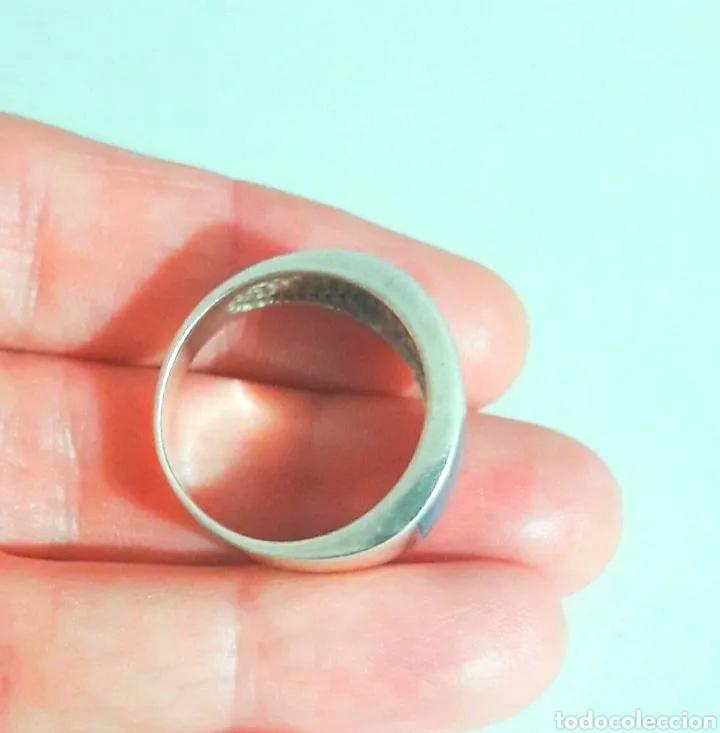 Joyeria: Sortija, anillo de plata de ley y piedra turquesa original. Plata maciza 925 contrastada - Foto 6 - 175045560