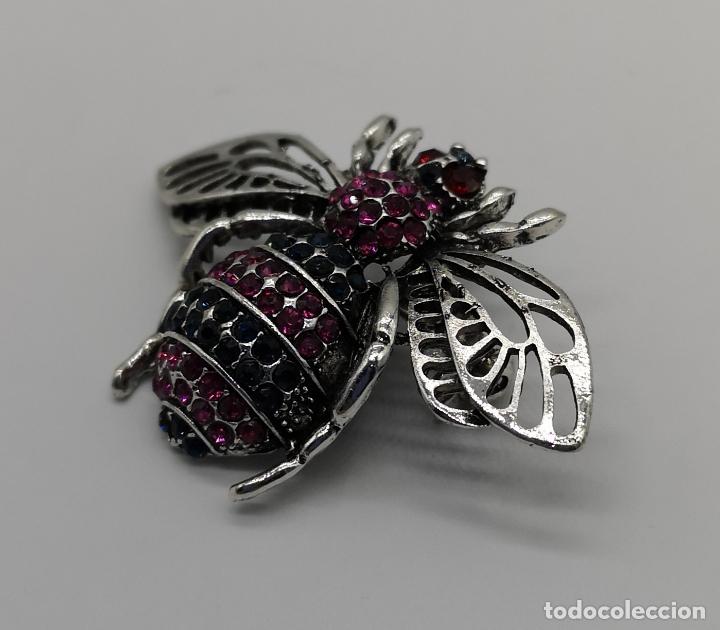 Joyeria: Precioso broche de insecto estilo vintage con acabado en plata y pedrería talla brillante . - Foto 3 - 194011291