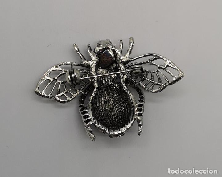 Joyeria: Precioso broche de insecto estilo vintage con acabado en plata y pedrería talla brillante . - Foto 4 - 194011291