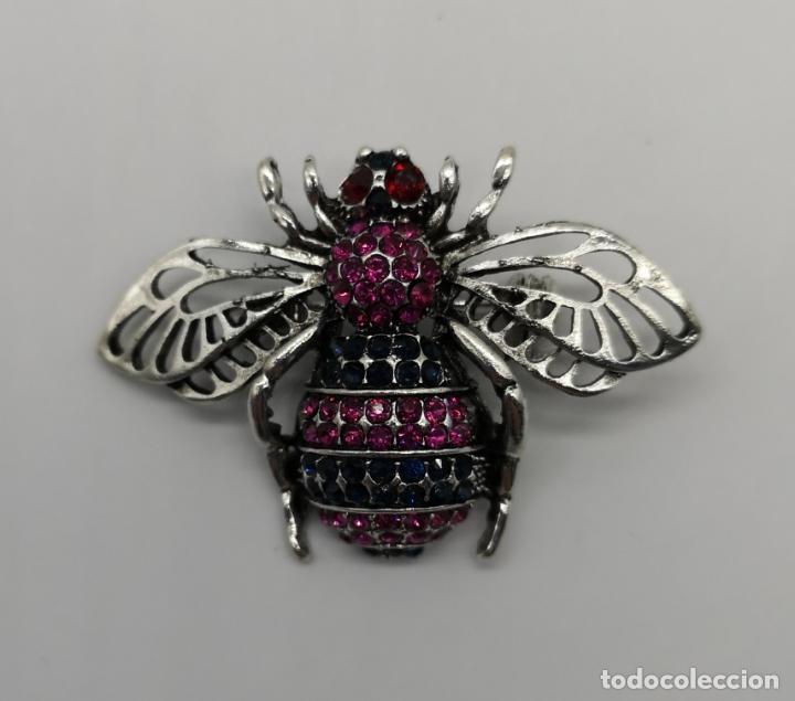 Joyeria: Precioso broche de insecto estilo vintage con acabado en plata y pedrería talla brillante . - Foto 5 - 194011291