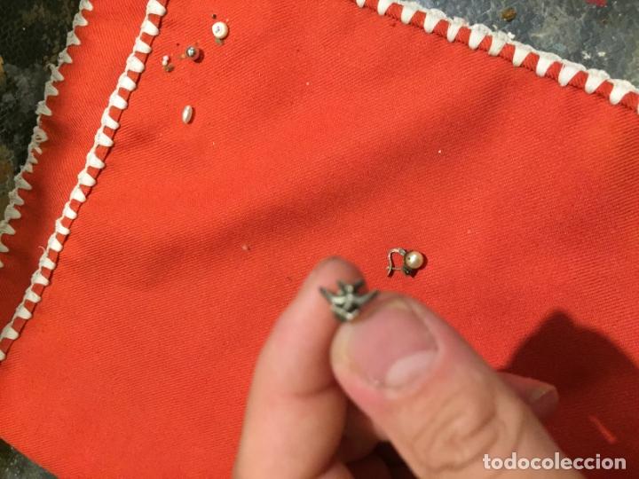 Joyeria: Antiguos 4 pendiente / pendientes de bisutería con perlas años 40-50 - Foto 6 - 177520130