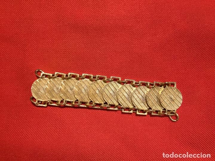 Joyeria: Antiguo pulsera de bisutería imitando monedas de oro años 50-60 - Foto 2 - 177520397
