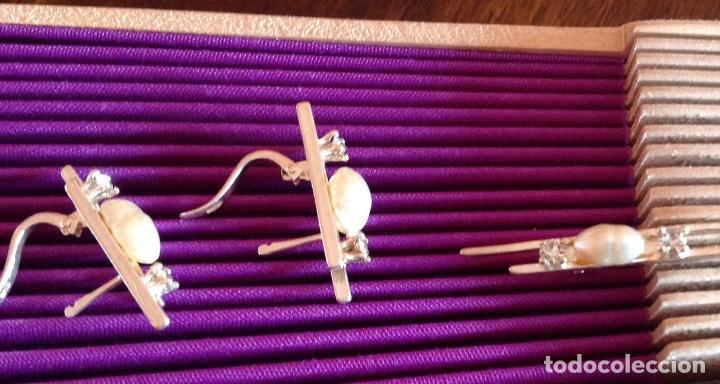 Joyeria: Broche. Alfiler de plata con pendientes a juego. Vintage. Perlas de Rio. - Foto 5 - 184348048