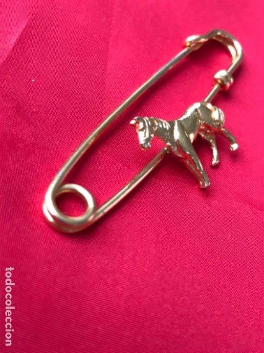 Joyeria: Antiguo broche caballo pasador imperdible caballo complemento insignia equino dorado no inmanta - Foto 2 - 185715033