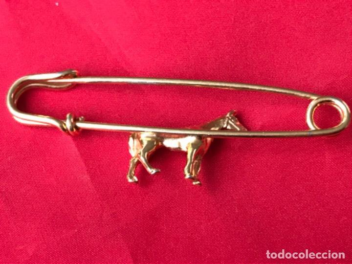 Joyeria: Antiguo broche caballo pasador imperdible caballo complemento insignia equino dorado no inmanta - Foto 6 - 185715033
