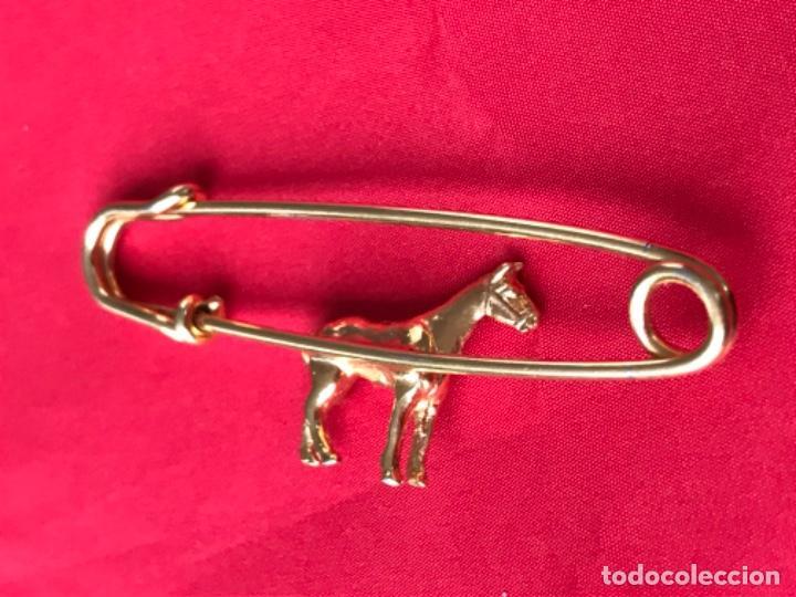 Joyeria: Antiguo broche caballo pasador imperdible caballo complemento insignia equino dorado no inmanta - Foto 7 - 185715033