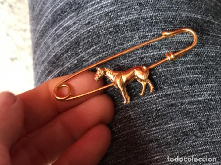 Joyeria: Antiguo broche caballo pasador imperdible caballo complemento insignia equino dorado no inmanta - Foto 12 - 185715033
