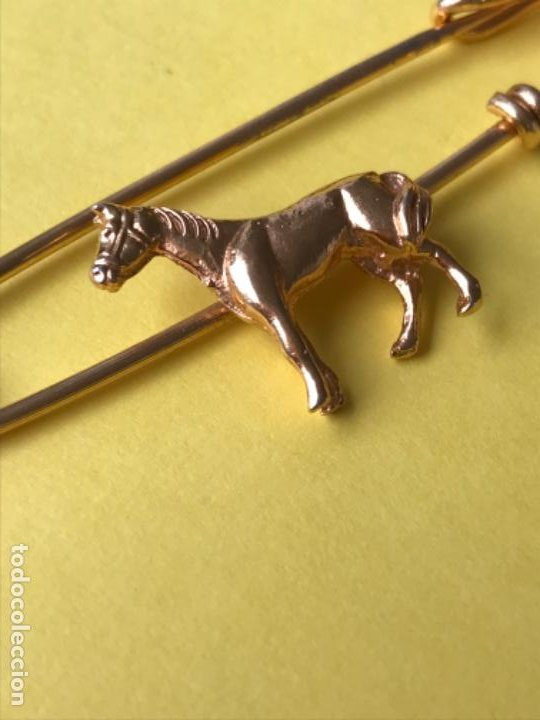 Joyeria: Antiguo broche caballo pasador imperdible caballo complemento insignia equino dorado no inmanta - Foto 13 - 185715033
